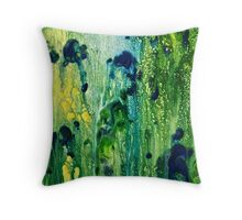 Abstract of  Sun through Jungle Trees  Throw Pillow