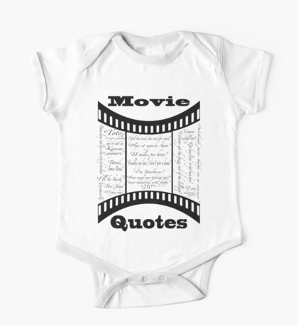 Movie Quotes (Tee shirt) One Piece - Short Sleeve