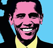 Barack Obama with Andy Warhol Pop Art Style by thejoyker1986