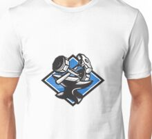 Dumbbell Sledgehammer and Anvil Retro Unisex T-Shirt