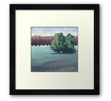 Green Light Shift Framed Print