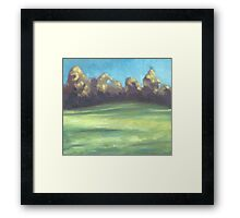 Blowing Wind Framed Print