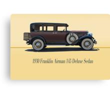 1930 Franklin Airman 145 Deluxe Sedan w/ ID Canvas Print