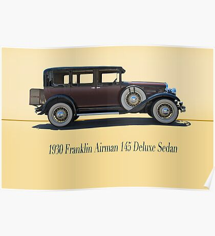 1930 Franklin Airman 145 Deluxe Sedan w/ ID Poster