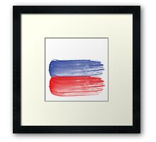 Russia flag russian Framed Print