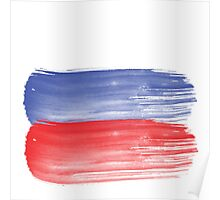 Russia flag russian Poster