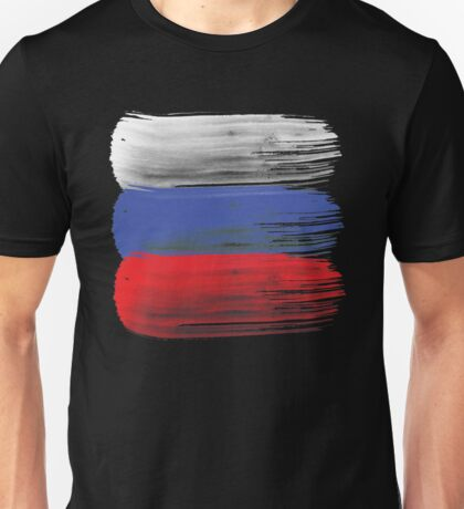 Russia flag russian Unisex T-Shirt