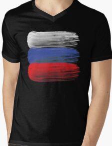 Russia flag russian Mens V-Neck T-Shirt