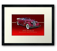 1937 Packard Dual Cowl Phaeton w/ID Framed Print
