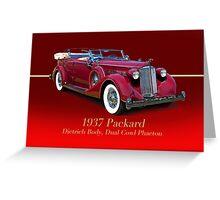 1937 Packard Dual Cowl Phaeton w/ID Greeting Card