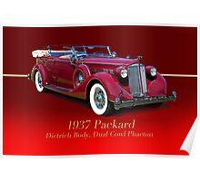 1937 Packard Dual Cowl Phaeton w/ID Poster