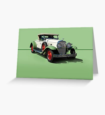 1929 Cadillac 341B Convertible V8 w/o ID Greeting Card