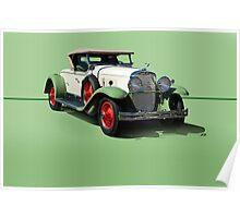 1929 Cadillac 341B Convertible V8 w/o ID Poster