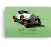 1929 Cadillac 341B Convertible V8 w/ID Canvas Print