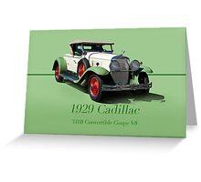 1929 Cadillac 341B Convertible V8 w/ID Greeting Card