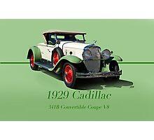 1929 Cadillac 341B Convertible V8 w/ID Photographic Print