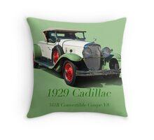 1929 Cadillac 341B Convertible V8 w/ID Throw Pillow
