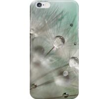 Silver Mint Dandelion iPhone Case/Skin