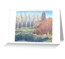 Illuminated Trees Greeting Card