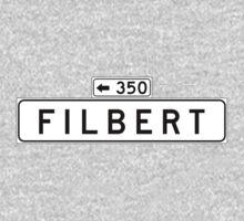 Filbert St., San Francisco Street Sign, USA Kids Tee