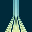 Retro Lines - Blue Flame by geekchic  tees
