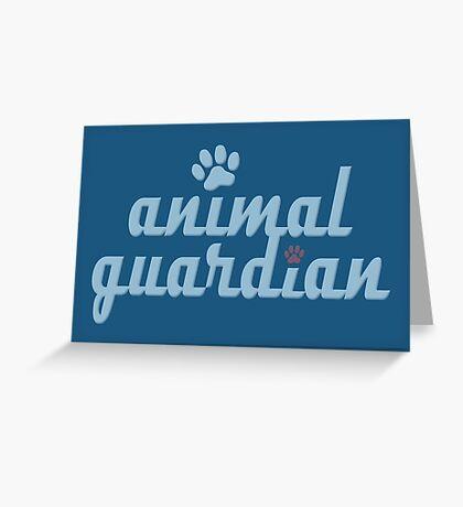 animal guardian - animal cruelty, vegan, activist, abuse Greeting Card