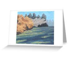 Green Field Greeting Card