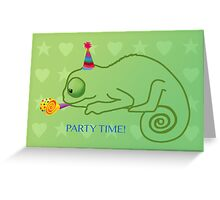 Chameleon partay animal Greeting Card