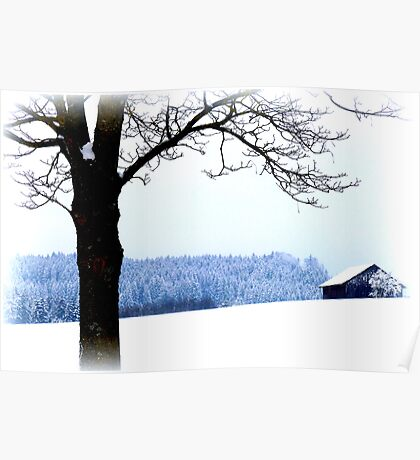 Bavarian Winter Scene Poster