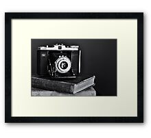 Old Camera, Old Books Framed Print