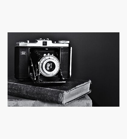 Old Camera, Old Books Photographic Print