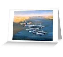 Supermarine S-6 over Calshot Greeting Card
