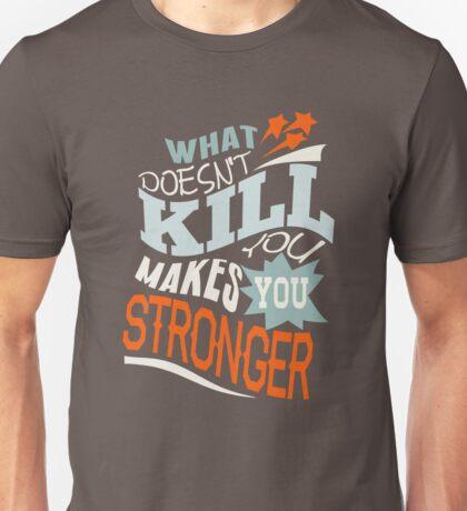 Stronger- KELLY CLARKSON Lyric Shirt *BLUE/ORANGE* Unisex T-Shirt
