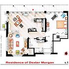 Floorplan of the apartment of Dexter Morgan v.1 by Iaki Aliste Lizarralde