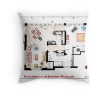 Floorplan of the apartment of Dexter Morgan v.1 Throw Pillow