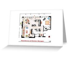 Floorplan of the apartment of Dexter Morgan v.2 Greeting Card