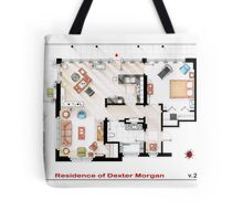 Floorplan of the apartment of Dexter Morgan v.2 Tote Bag