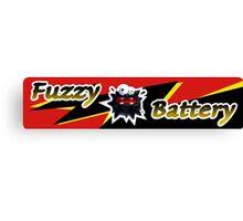 Mario Kart 8 Fuzzy Battery Canvas Print