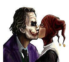 Joker and Harley quiin kiss Photographic Print