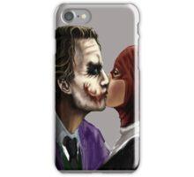 Joker and Harley quiin kiss iPhone Case/Skin
