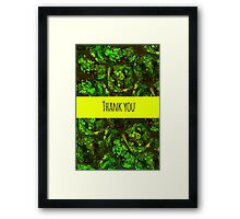 Green moss pattern Framed Print