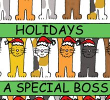Happy Holidays to a special boss. Sticker