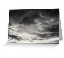 Gray into the Night Greeting Card