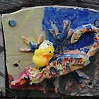 Chick with Coloured Tile by Humperdink