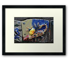 Chick with Coloured Tile Framed Print