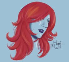 Red Hair Speed Painting by Liz Staley