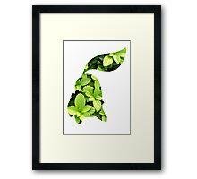 Chikorita used Razor Leaf Framed Print