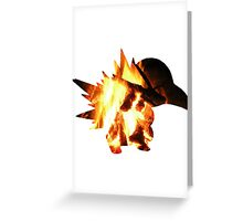 Cyndaquil used Ember Greeting Card