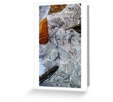 Wintry Pattern Greeting Card