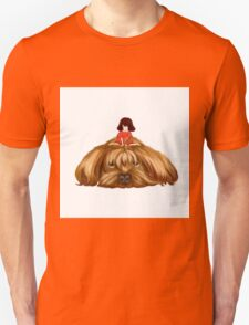 The Big Dog and the Little Girl. Unisex T-Shirt